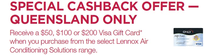 Special Cashback Offer (Queensland only)